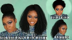 natural crochet hair braidless crochet short natural hair 4 styles motowntress 3x