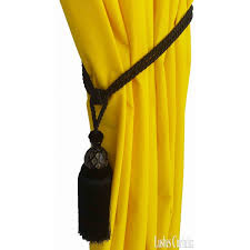 Large Drapery Tassels Black Curtain Wood Tassel Tie Backs Drape Tassel Pull Back