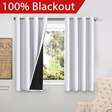 White Silk Curtains Flamingop Blackout White Curtains Faux Silk Satin