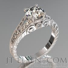 antique design rings images Pave diamond enagement rings antique style engagement ring round jpg