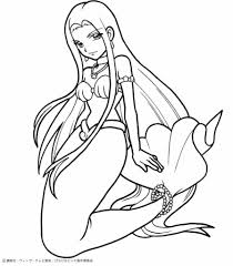 mermaid melody coloring pages intended for house cool coloring