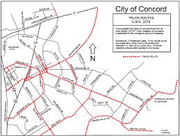 concord california map local truck routes