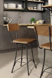 industrial metal bar stools with backs amisco bean swivel stool w wood seat backrest free shipping