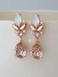 Big Chandelier Earrings Blush Chandelier Earrings Blush Bridal Earrings Morganite Earrings