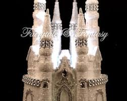castle cake topper cinderella blue fairytale wedding or sweet