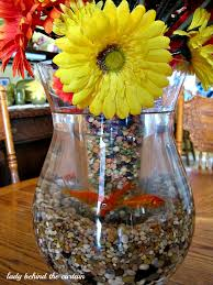 Goldfish In A Vase Goldfish Centerpiece