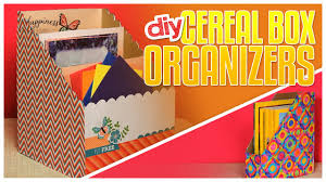 Roll Top Desk Organizer by 3 Diy Cereal Box Organizers Do It Gurl Youtube