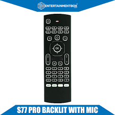 android keyboard with microphone new s77 pro voice remote keyboard for android windows mac
