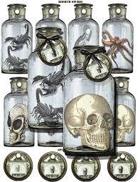 halloween printable labels gothic macabre apothecary specimen jar