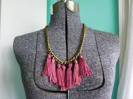 tassel necklace make images How to make fabric necklaces craft tutorials and inspiration jpg
