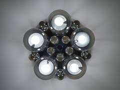 Glass Bubble Chandelier Lightolier Pair Of Smoke And Clear Glass U0027bubbles U0027 Chrome Flush