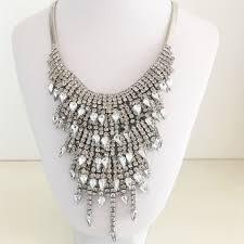 bib necklace metal images Pretty petty jewelry crystal statement necklace poshmark jpg