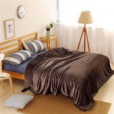 canap molletonn solide couleur corail couvertures en molleton chaud doux