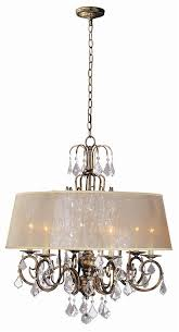 Marie Chandelier Buy Belle Marie 6 Light Crystal Chandelier W Shade In Antique Gold