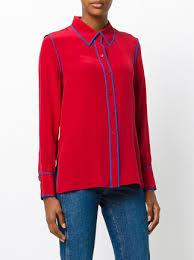 dvf blouse diane furstenberg button collared blouse farfetch