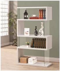 Modern White Bookcase by Coaster Bookcases Asymmetrical Snaking Bookshelf Dunk U0026 Bright