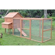 Rabbit Hutch With Large Run Large 12 U0027ft Deluxe Wooden Rabbit Bunny Hutch Pet Run House Coop