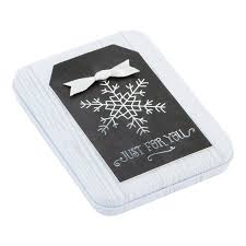 gift card tin chalkboard snowflake gift card holder tin the container store