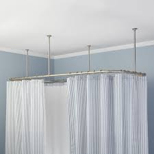 Copper Pipe Shower Curtain Rod Best 25 Ceiling Mount Curtain Rods Ideas On Shower