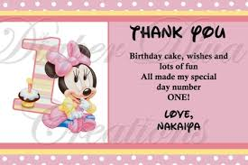 minnie mouse thank you cards minnie mouse thank you card