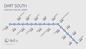 Dart Map The Daft Ie Dart U0026 Luas House Price Map By Stop Daft Insights