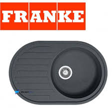 FRANKE SINGLE  BOWL DRAINER  WASTE STAINLESS STEEL SQUARE - Round kitchen sink and drainer