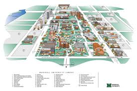 Iowa State Campus Map by Campus Map Marshall University Marshall University 1837