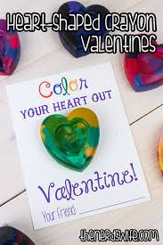 crayon valentines handmade heart shaped crayons