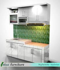 Kitchen Set Minimalis Putih Contoh Gambar Desain Kitchen Set Furniture Kitchen Set Minimalis