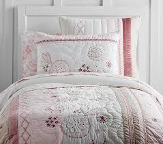 twin pink bedding pottery barn kids