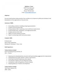 entry level business analyst resume 100 images click here to