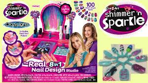 cra z art shimmer and sparkle crazy lights super nail salon kit