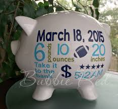 personalized baby piggy banks personalized piggy bank baby boy piggy bank baby birth stats