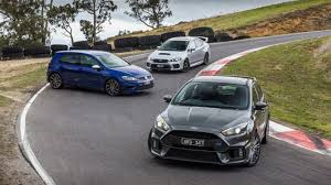 volkswagen wrx 2017 ford focus rs vs 2018 subaru wrx sti vs 2018 volkswagen golf