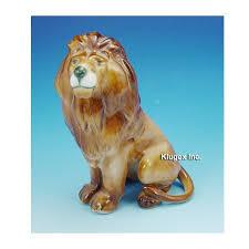 lion figurine vintage zsolnay porcelain lion figurine zsolnay shop usa