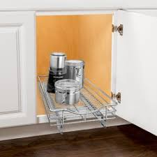 Sliding Kitchen Cabinet Shelves Lynk Roll Out Cabinet Organizer Pull Out Drawer Under Cabinet