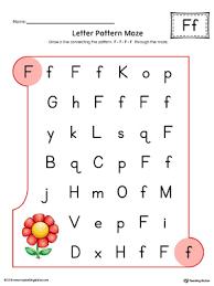uppercase letter f maze worksheet color myteachingstation com