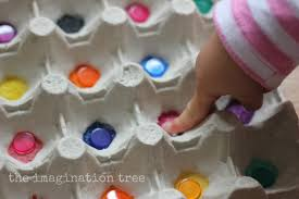 egg carton colour sorting the imagination tree