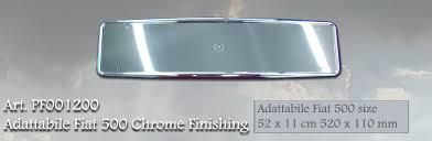 porta targa auto pf001200 portatarga ufficiale fiat 500 52 x 11 cm 520 x 110 mm