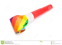 new years party blowers party blower stock photo image 3684660