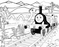 gambar ini thomas the train and friends coloring pages online