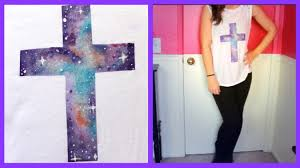 diy galaxy cross shirt youtube