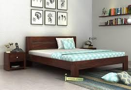 Wooden Shelf Designs India by Buy Double Beds Online Upto 70 Off India Wooden Street