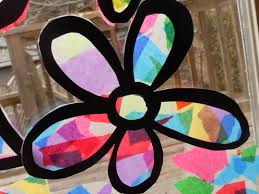 tissue paper stained glass craft contact paper tissue paper and