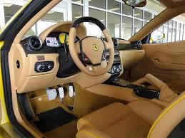 ferrari yellow interior 2008 ferrari 599 gtb fiorano