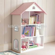 lovely white european style wooden kids bedroom dollhouse bookcase
