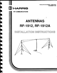 harris rf 1912 antenna installation instructions