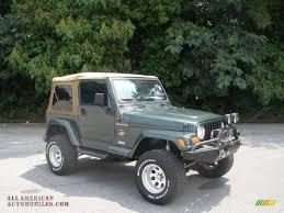 dark green jeep wrangler 2002 jeep wrangler sahara 4x4 in shale green metallic 731686