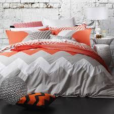 Double Bed Duvet Size Logan U0026 Mason Marley Tangerine Chevron King Size Doona Duvet Quilt