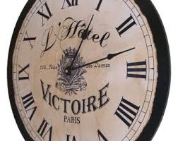 Large Shabby Chic Wall Clock by French Country Clock Etsy